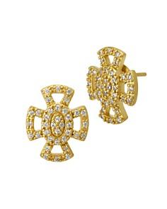 Freida Rothman Open Pavé Maltese Stud Earrings - Bloomingdale's_0