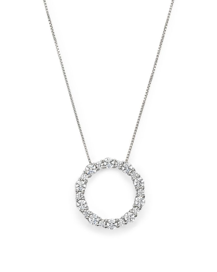 Bloomingdale's Diamond Circle Pendant Necklace in 14K White Gold, 1.30 ct. t.w. - 100% Exclusive    Bloomingdale's