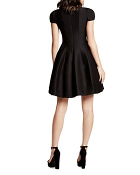 HALSTON HERITAGE - Dress - Short Sleeve Notched Neck Tulip Skirt