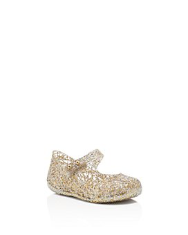 Mini Melissa - Girls' Campana Glitter Zigzag Mary Jane Flats - Walker, Toddler