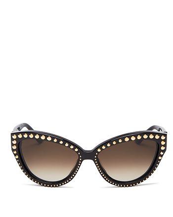 Moschino - Women's Studded Cat Eye Sunglasses, 56mm