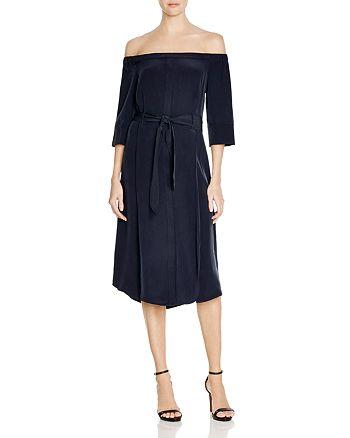 3627b82aa6e41 Whistles Flavia Bardot Belted Silk Dress - 100% Exclusive ...