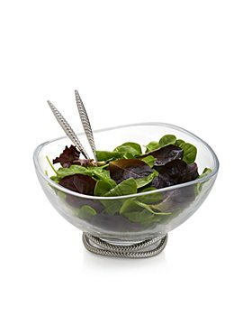 Nambé - Braid Glass Salad Bowl & Servers