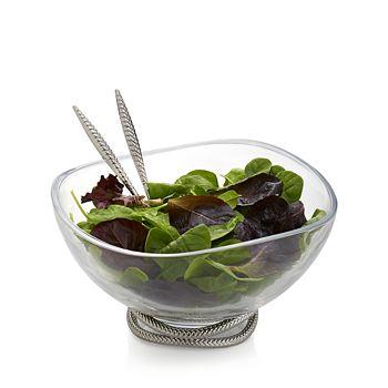 Nambé - Braid Glass Salad Bowl & Servers
