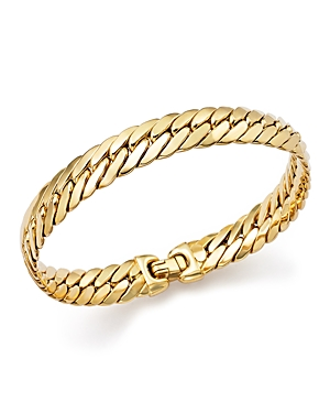 14K Yellow Gold Flat Curb Link Bracelet - 100% Exclusive