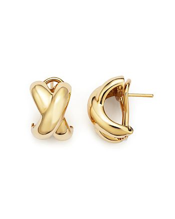 Roberto Coin - 18K Yellow Gold Small Crossover X Earrings