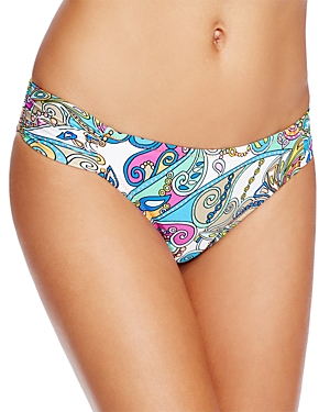 Trina Turk Mykonos Shirred Hipster Bikini Bottom - 100% Exclusive