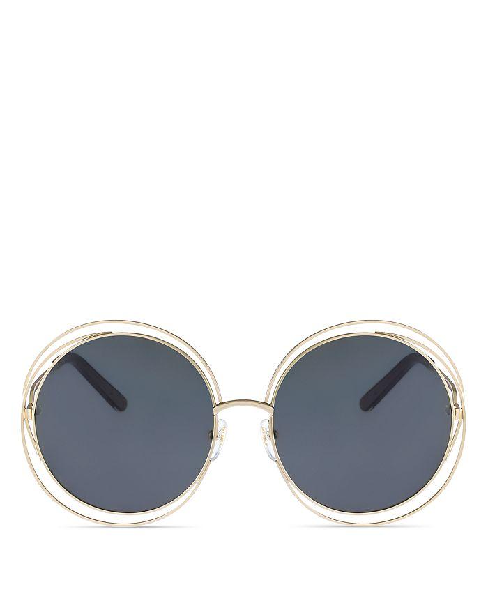 d4dc4a40c99d Chloé Women's Carlina Oversized Round Sunglasses, 62mm | Bloomingdale's