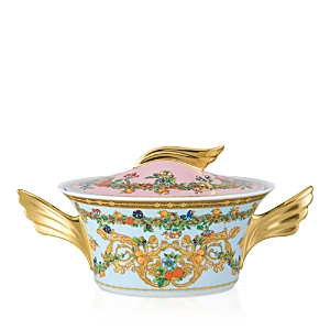 Rosenthal Meets Versace Butterfly Garden Covered Vegetable Dish