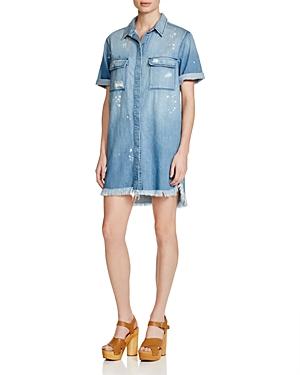 Hidden Roxy Frayed Denim Dress
