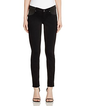 PAIGE - Verdugo Skinny Maternity Jeans in Black Shadow