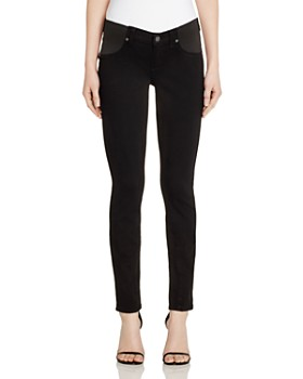 701a899cdd5c2 PAIGE - Verdugo Skinny Maternity Jeans in Black Shadow ...