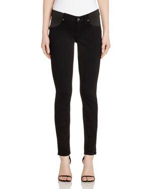 Paige Denim Verdugo Skinny Maternity Jeans in Black Shadow