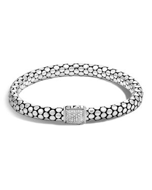 John Hardy Sterling Silver Dot Small Chain Bracelet with Diamonds