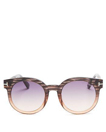 Tom Ford - Women's Janina Round Sunglasses, 53mm