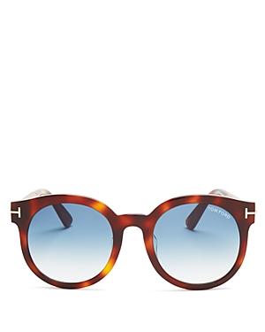 Tom Ford Janina Round Sunglasses, 53mm