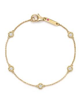 Roberto Coin - 18K Yellow Gold Barocco Round Diamond Bracelet