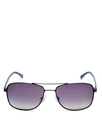 HUGO - Men's Polarized Rectangle Sunglasses, 58mm