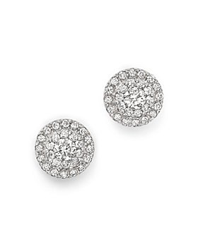 Bloomingdale's - Diamond Halo Stud Earrings in 14K White Gold, 0.75 ct. t.w.  - 100% Exclusive