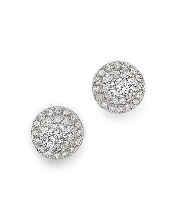 Bloomingdale's - Diamond Halo Stud Earrings in 14K White Gold, 0.75 ct. t.w. - 100% Exclusive