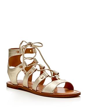 Dolce Vita Jasmyn Metallic Lace Up Flat Sandals