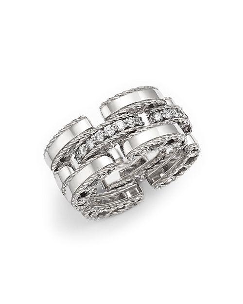 Roberto Coin - 18K White Gold Retro Diamond Ring