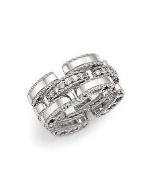 Roberto Coin 18K White Gold Retro Diamond Ring