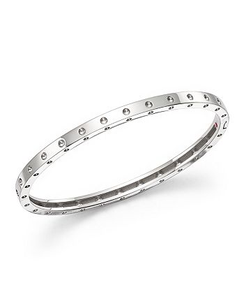 Roberto Coin - 18K White Gold Symphony Dotted Hinged Bracelet