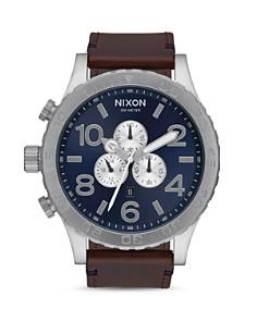 Nixon - 51-30 Leather Strap Watch, 51mm