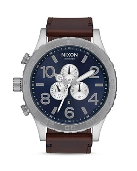 Nixon - 51-30 Leather Strap Watch, 51mm