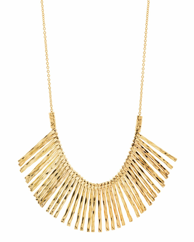 Gorjana Kylie Fan Necklace, Silver