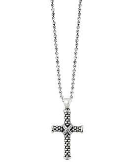 """LAGOS - LAGOS Sterling Silver Cross Pendant Necklace, 34"""""""