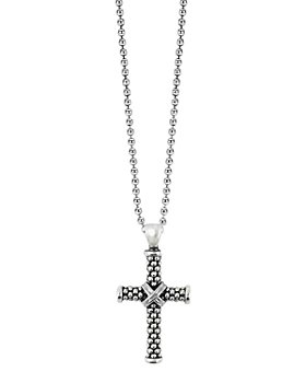 LAGOS - LAGOS Sterling Silver Cross Pendant Necklace, 34""
