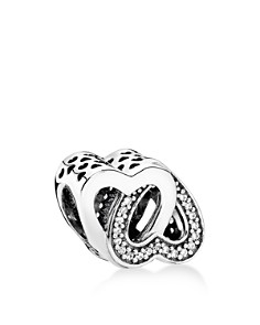 PANDORA Moments Collection Sterling Silver & Cubic Zirconia Entwined Love Charm - Bloomingdale's_0