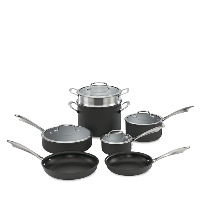 Cuisinart - DS Anodized 11-Piece Cookware Set