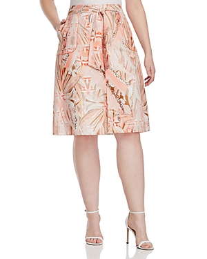 Basler Plus Printed Skirt plus size,  plus size fashion plus size appare