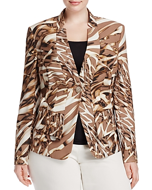 Basler Plus Animal Print Jacket