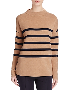 Basler Striped Mock Neck Sweater