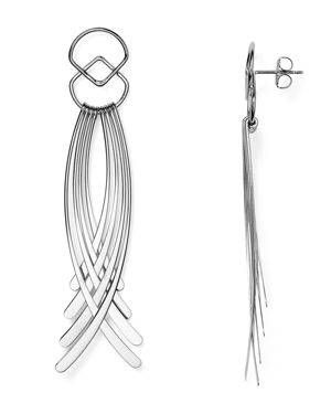 Sterling Silver Curved Fringe Drop Earrings - 100% Exclusive