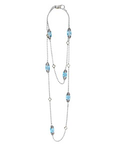 """LAGOS 18K Gold and Sterling Silver Caviar Color Gemstone Station Necklaces, 34"""" - Bloomingdale's_0"""