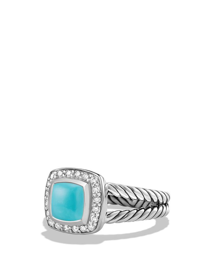 David Yurman - Petite Albion Ring with Turquoise and Diamonds