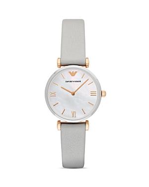 Emporio Armani Analog Leather Strap Watch, 32mm