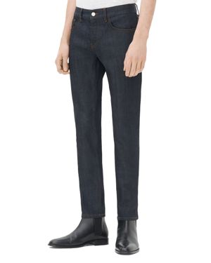 Sandro Iggy Raw Skinny Jeans in Brut Denim
