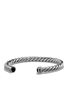 David Yurman - Cable Classic Cuff Bracelet with Black Onyx, 6mm