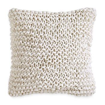"DKNY - City Pleat Ribbon Decorative Pillow, 14"" x 14"""