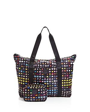 Terez Girls' Emoji Print Collapsible Tote Bag