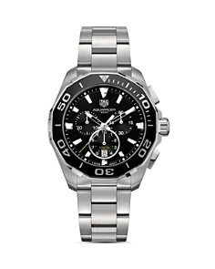 TAG Heuer Stainless Steel Aquaracer Chronograph, 43mm - Bloomingdale's_0