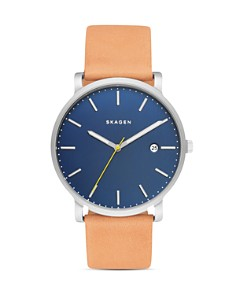 Skagen - Hagen Leather Strap Watch, 40mm