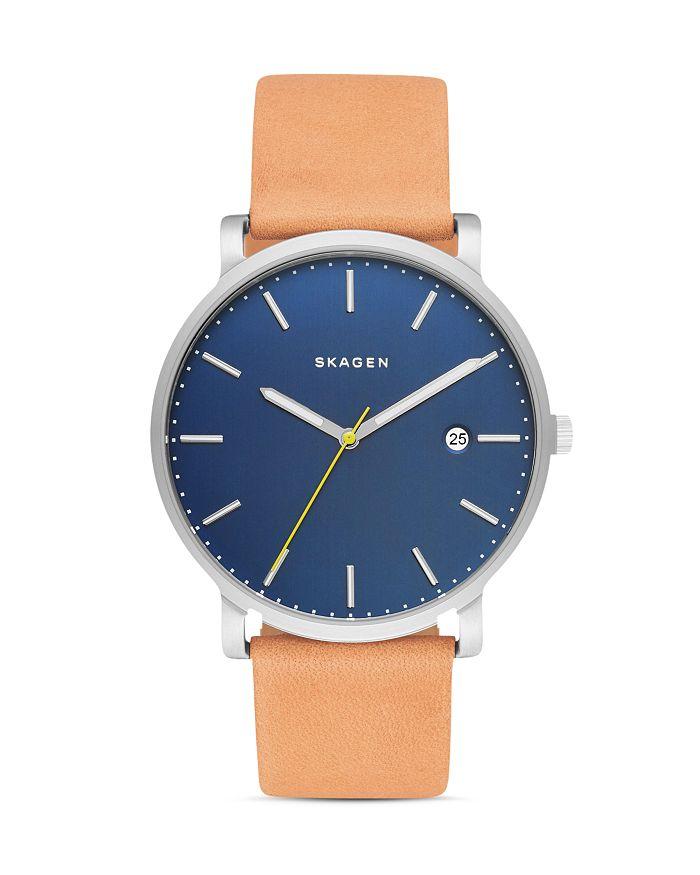 Skagen - Hagen Leather Strap Watch, 40mm