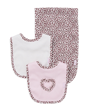 Little Me Infant Girls' Leopard Spot Bib & Burp Cloth Set